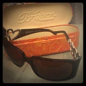 Brighton Sunglasses Silver Heart Embellishments